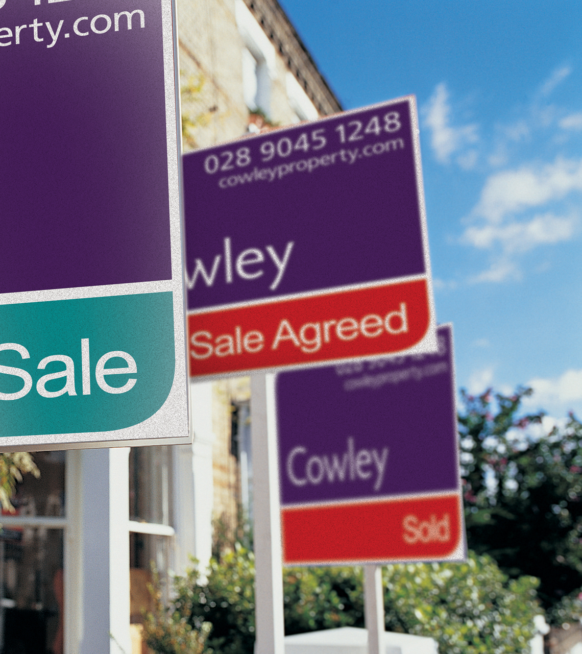 Cowley Property Sign Board